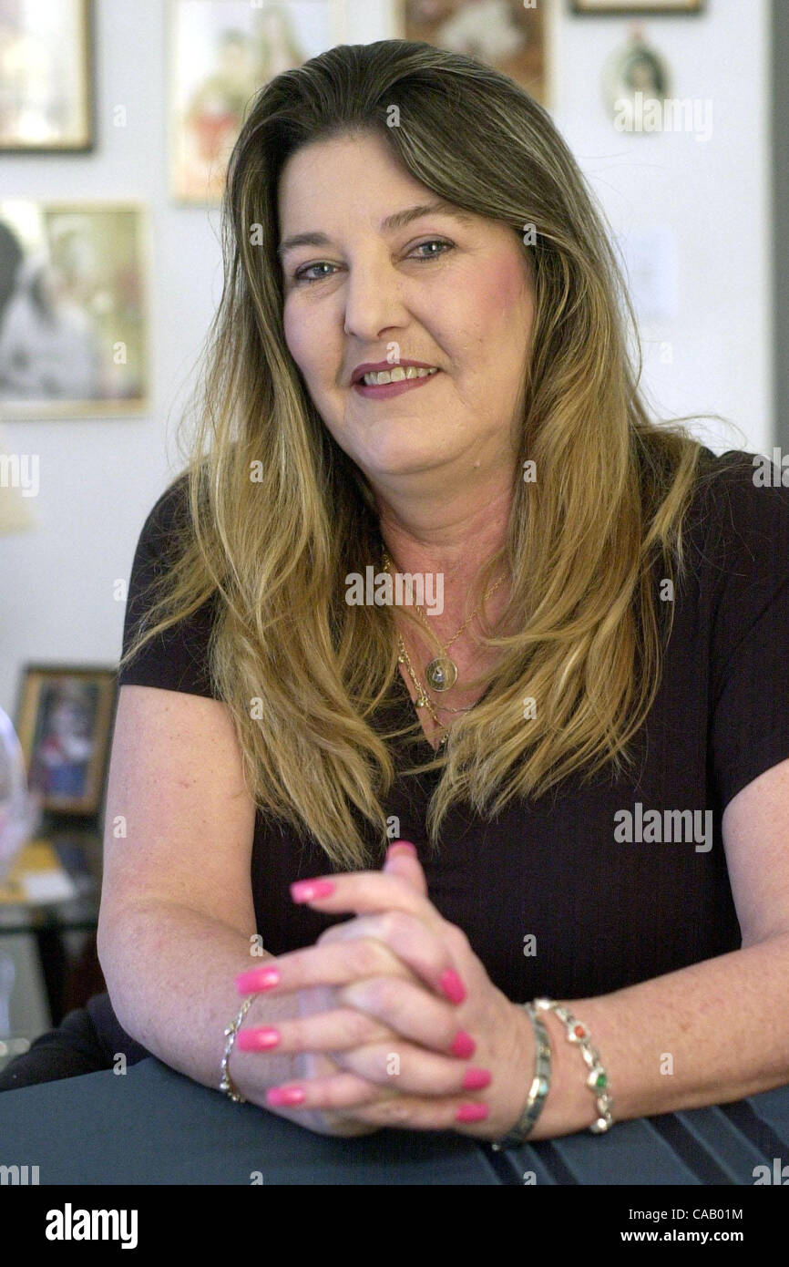 Nancy Mattingly, a Safeway employee from Oakley California plans to take a second job to save money for a possible - Stock Image