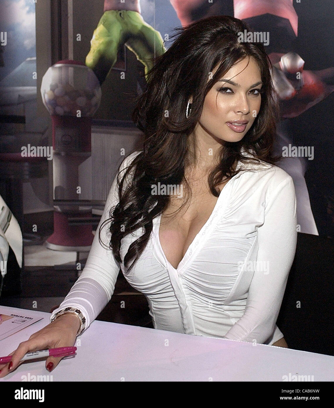 May 12 2004 Los Angeles Ca Usa Adult Film Star Tera Patrick At The Eidos Booth At E3 The Electronic Entertainment Expo