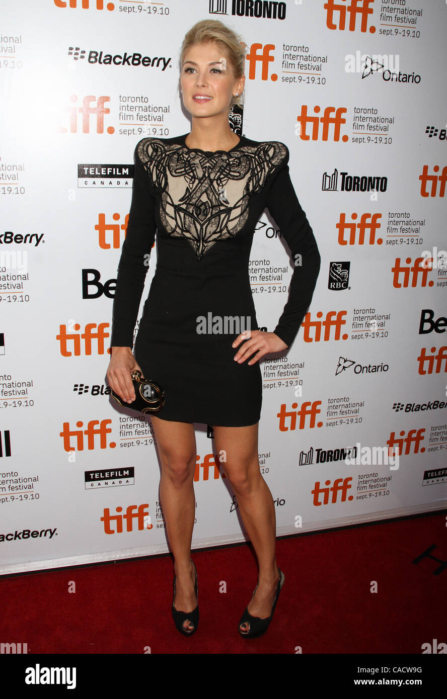 Sept. 12, 2010 - Toronto, ON, Canada - Rosamund Pike at the 2010  Toronto International Film Festival premiere of Stock Photo