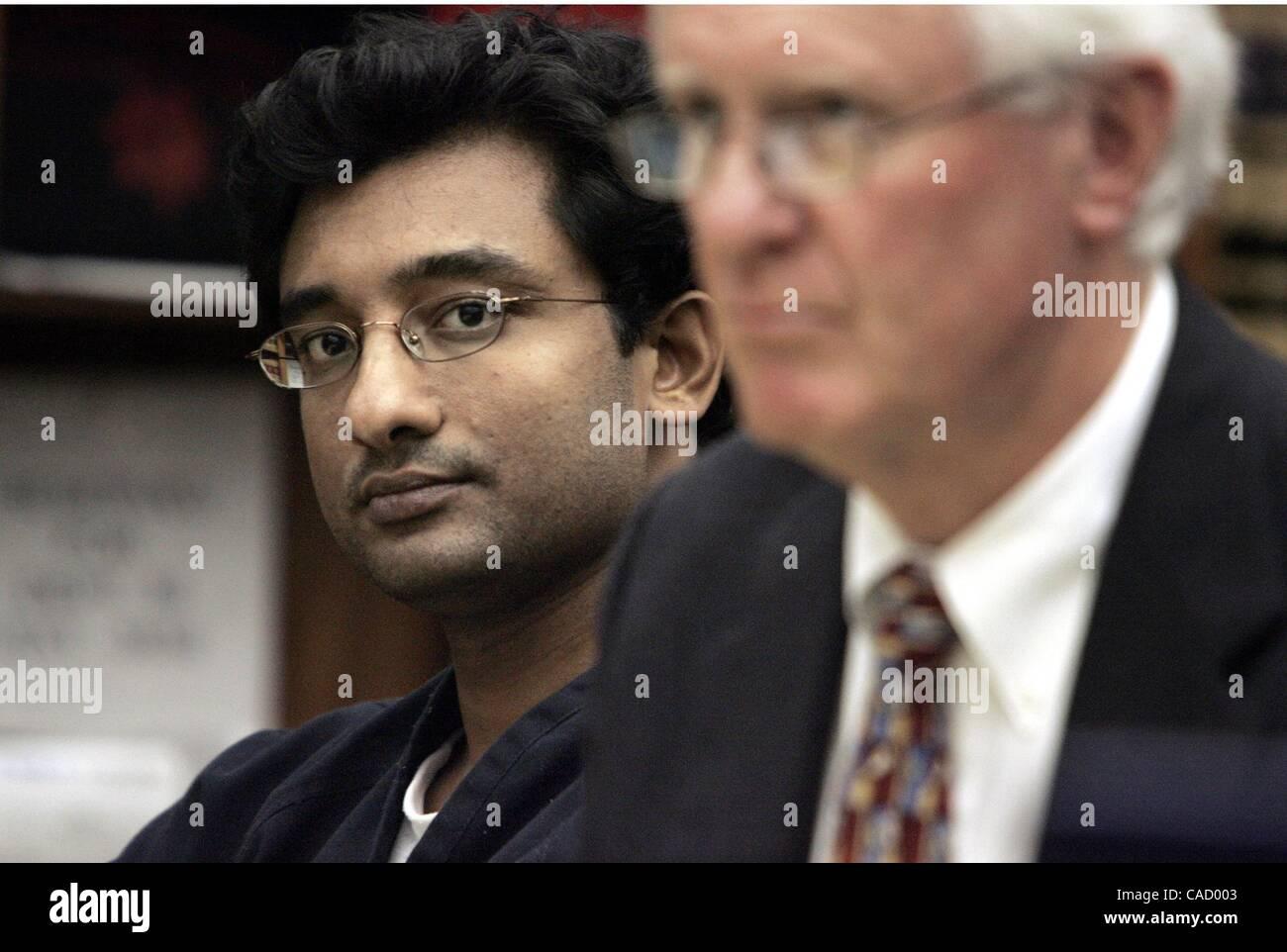 (Cropped mug published 2/21/2005, B-1) SLvarghese235234x001/Feb 14---At left, Bilji Varghese is accused of killing - Stock Image