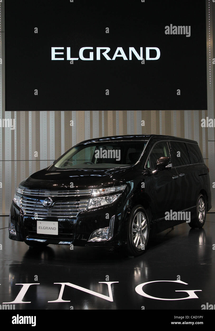 Aug   Yokohama Japan Nissan Motor Co Ltd S Elgrand Is On Display At The Corporate Headquarter In Yokohama Japan Nissan Today Announced The