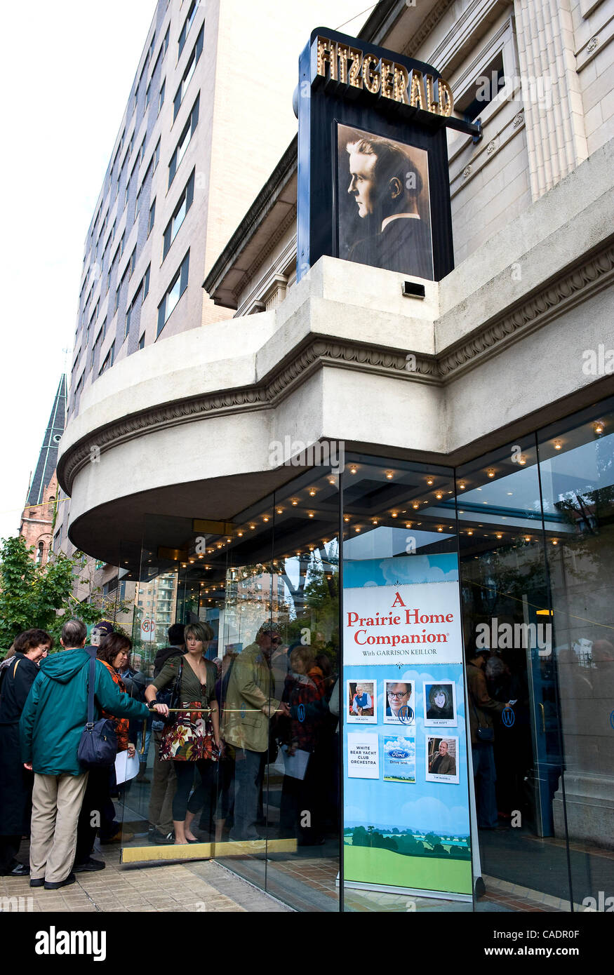 Sept. 25, 2010 - Saint Paul, Minnesota, USA -  Audience members file into the Fitzgerald Theater for the season - Stock Image