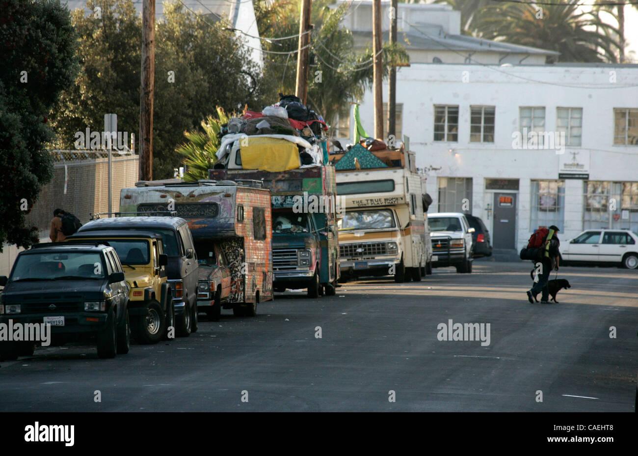 Aug. 22, 2010 - Venice Beach, California, U.S - A homeless ...