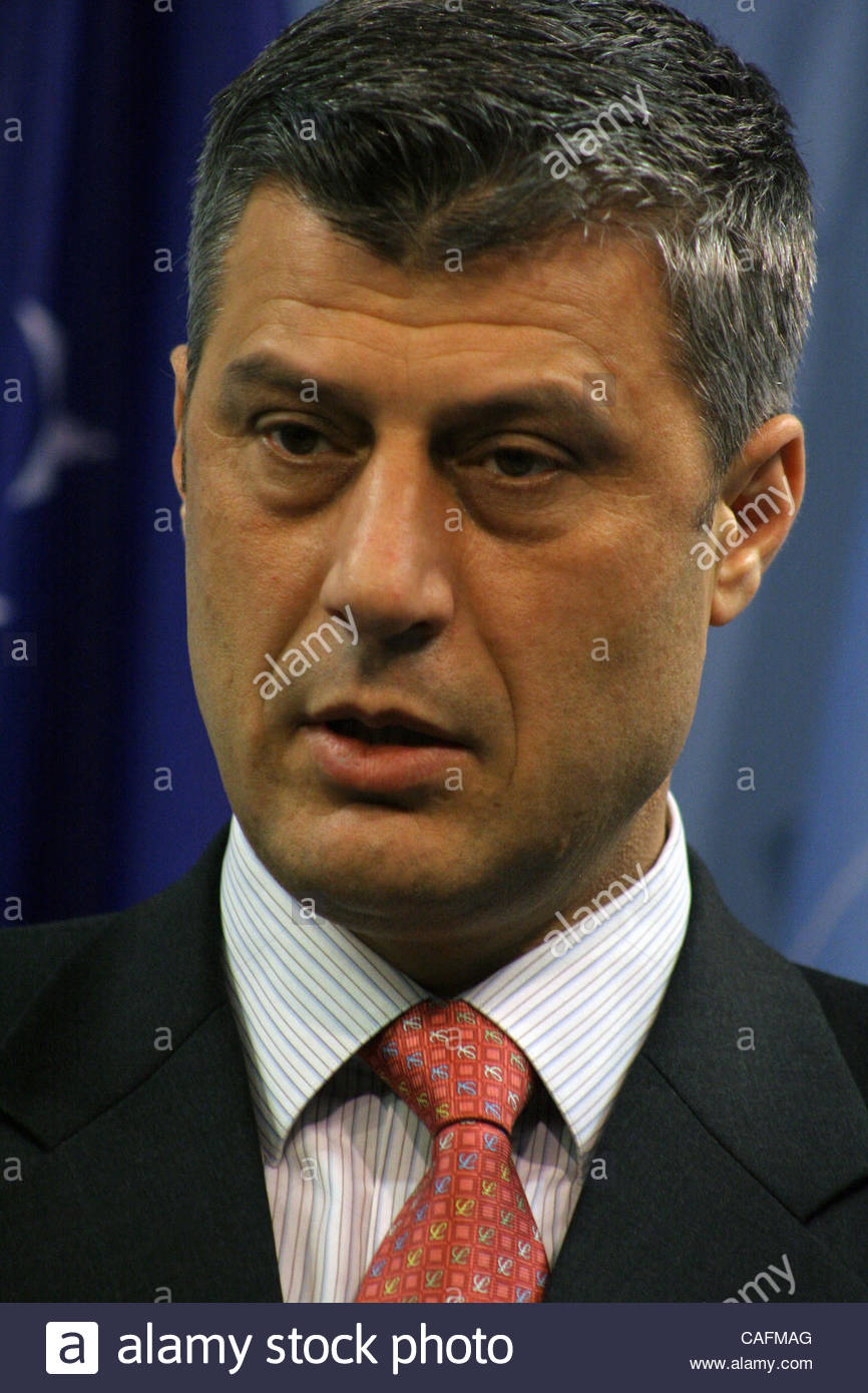 Pristina, Kosovo Friday, February 29, 2008  Kosovo Prime Minister Mr.Hashim THAÇI and former Special Representative - Stock Image