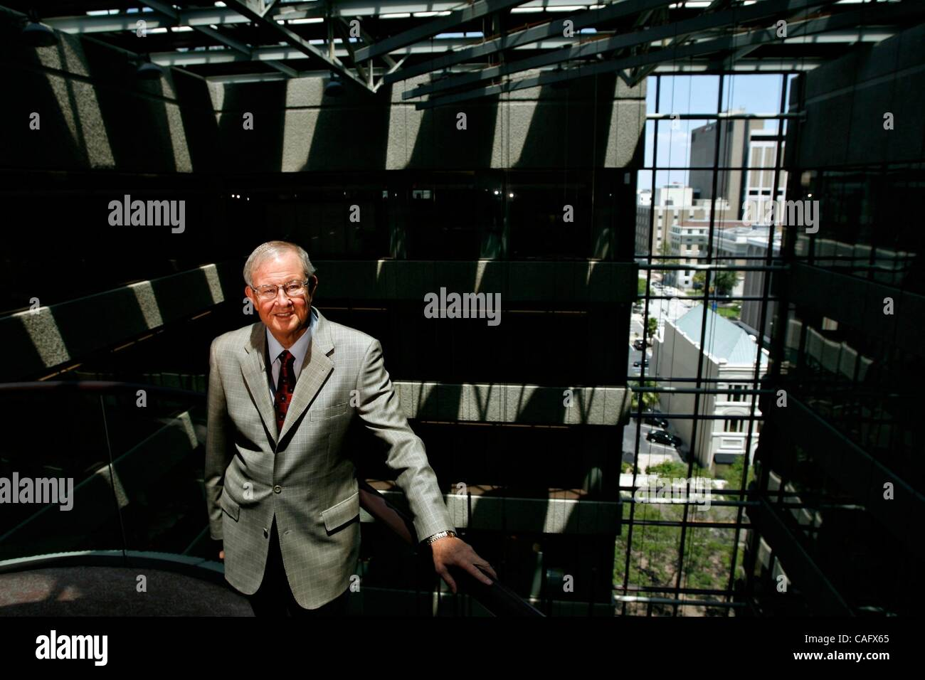 Feb 21, 2008 - Tampa, Florida, USA - TECO Energy chairman and chief executive officer Sherrill Hudson, photographed - Stock Image