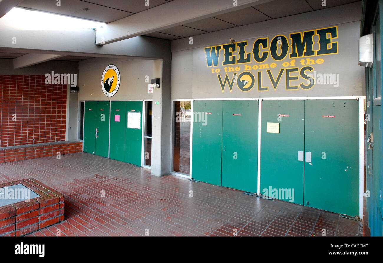 The San Ramon Valley High School gym in Danville, Calif., on Wednesday, February 6, 2008. The gym has been deemed - Stock Image