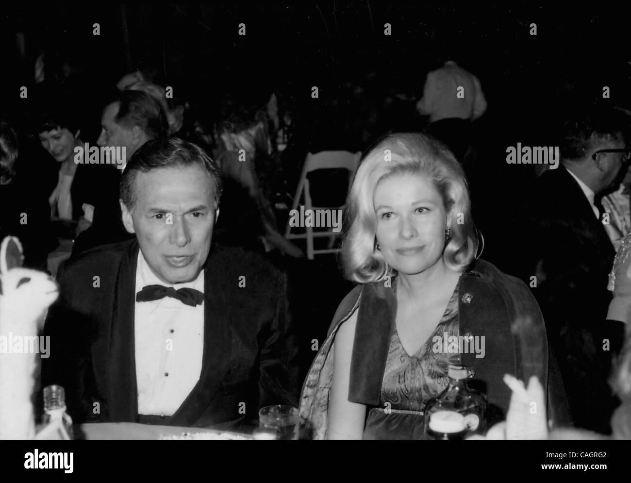 Feb. 4, 2008 - Hollywood, California, U.S. - # 5362.ALAN W. LIVINGSTON WITH NANCY OLSEN.'' DOLITTLE '' 1967.(Credit Stock Photo