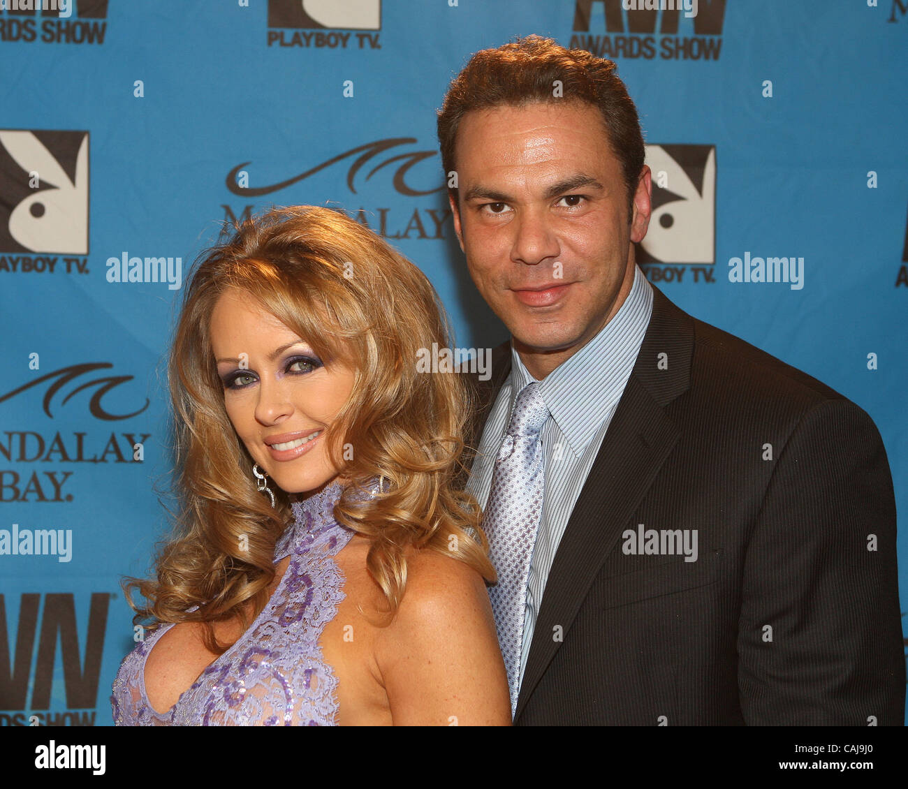 Dyanna Lauren And Steven St Croixon The Red Carpet Of The 25th Annual Avn Adult Movie Awards Held In Las Vegas Nevada At The Mandalay Bay Events Center