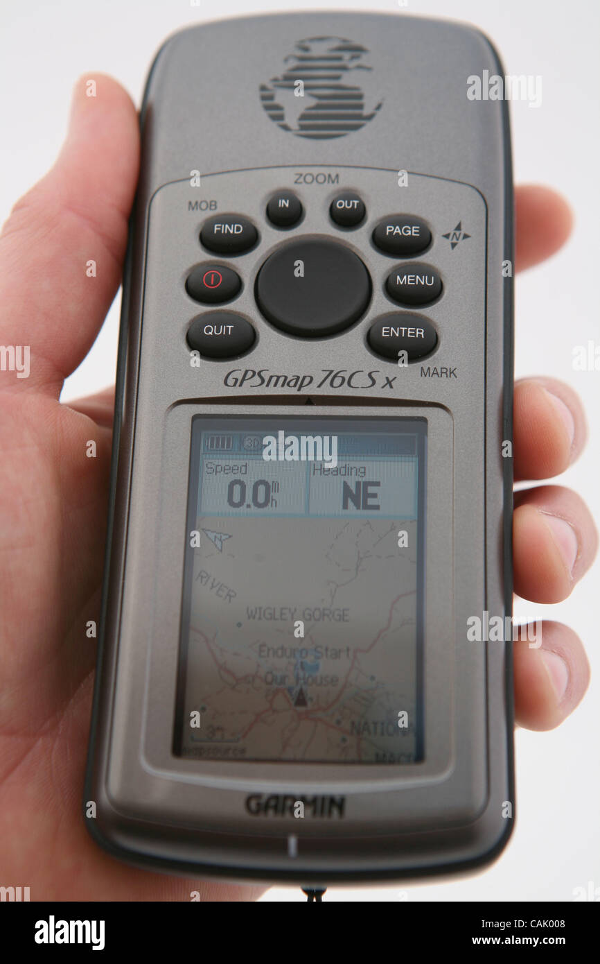 Oct 03, 2007 - Sydney, Australia - Portable navigation devices are poised to take off this holiday shopping season - Stock Image