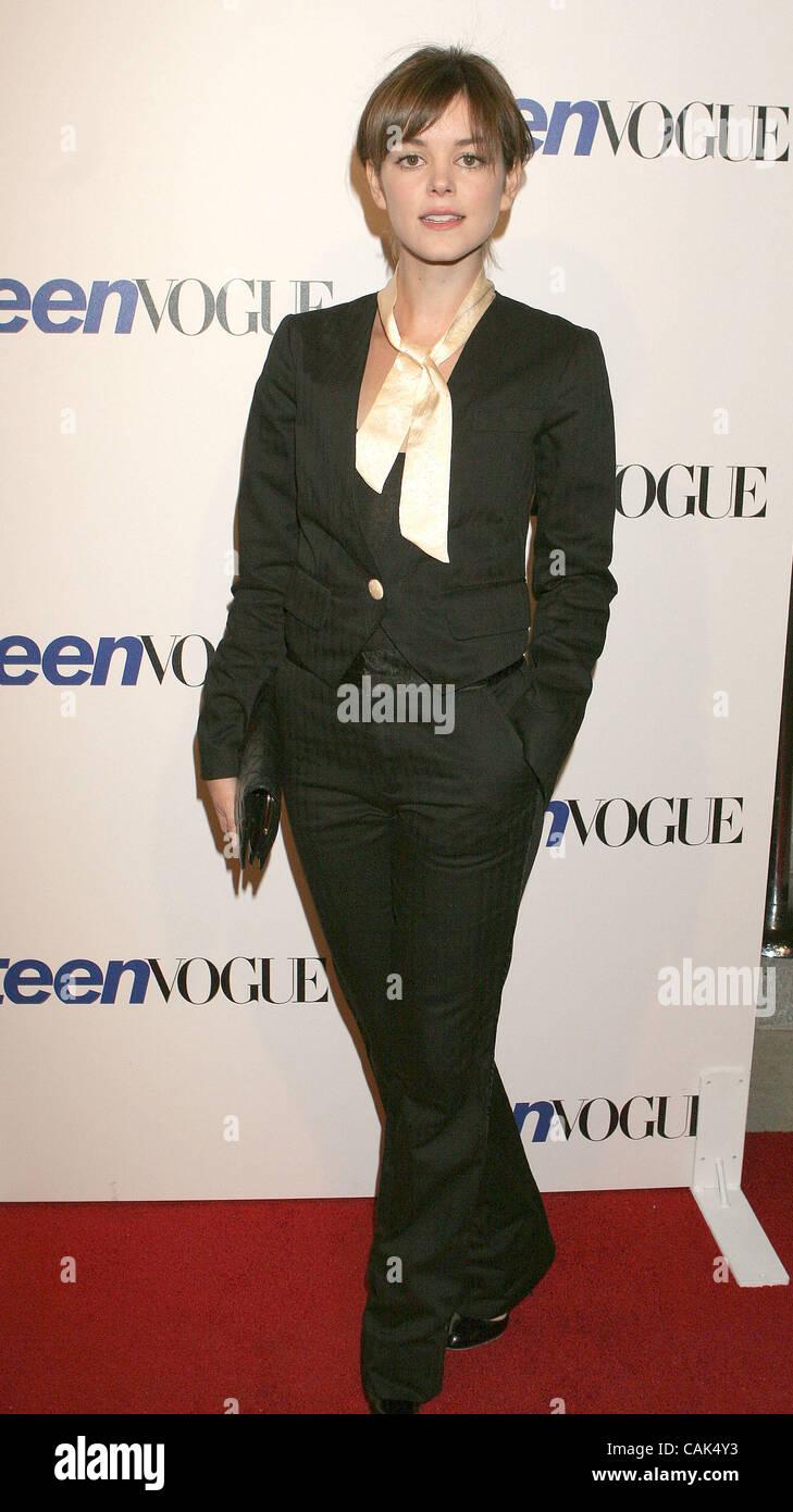 Sep 20, 2007; Hollywood, California, USA;  Actress  NORA ZEHETNER at the  Vogue Young Hollywood Party  held at Vibiana - Stock Image