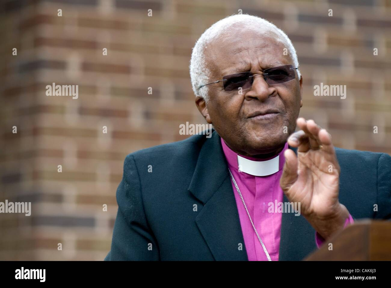 Sep 21, 2007 - Harrisonburg, Virginia, United States - The Most Rev. DESMOND TUTU, recipient of the 1984 Nobel Peace - Stock Image