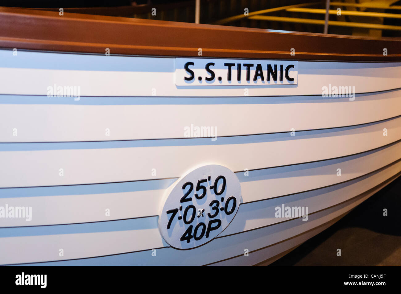 Replica lifeboat from SS (later RMS) Titanic - Stock Image