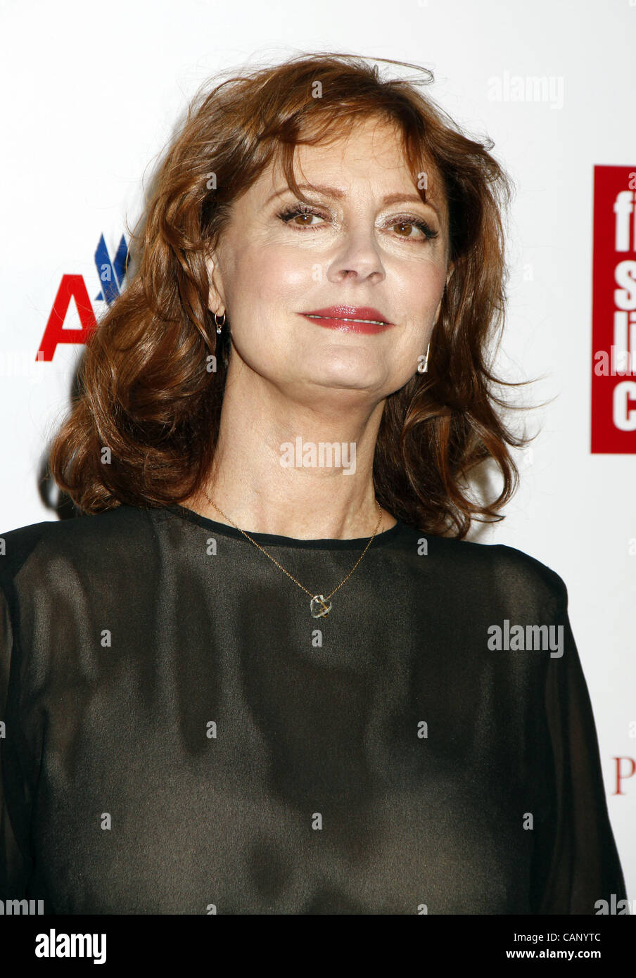 April 2, 2012 - New York, New York, U.S. - Susan Sarandon arrives for the Film Society of Lincoln Center' 39th - Stock Image