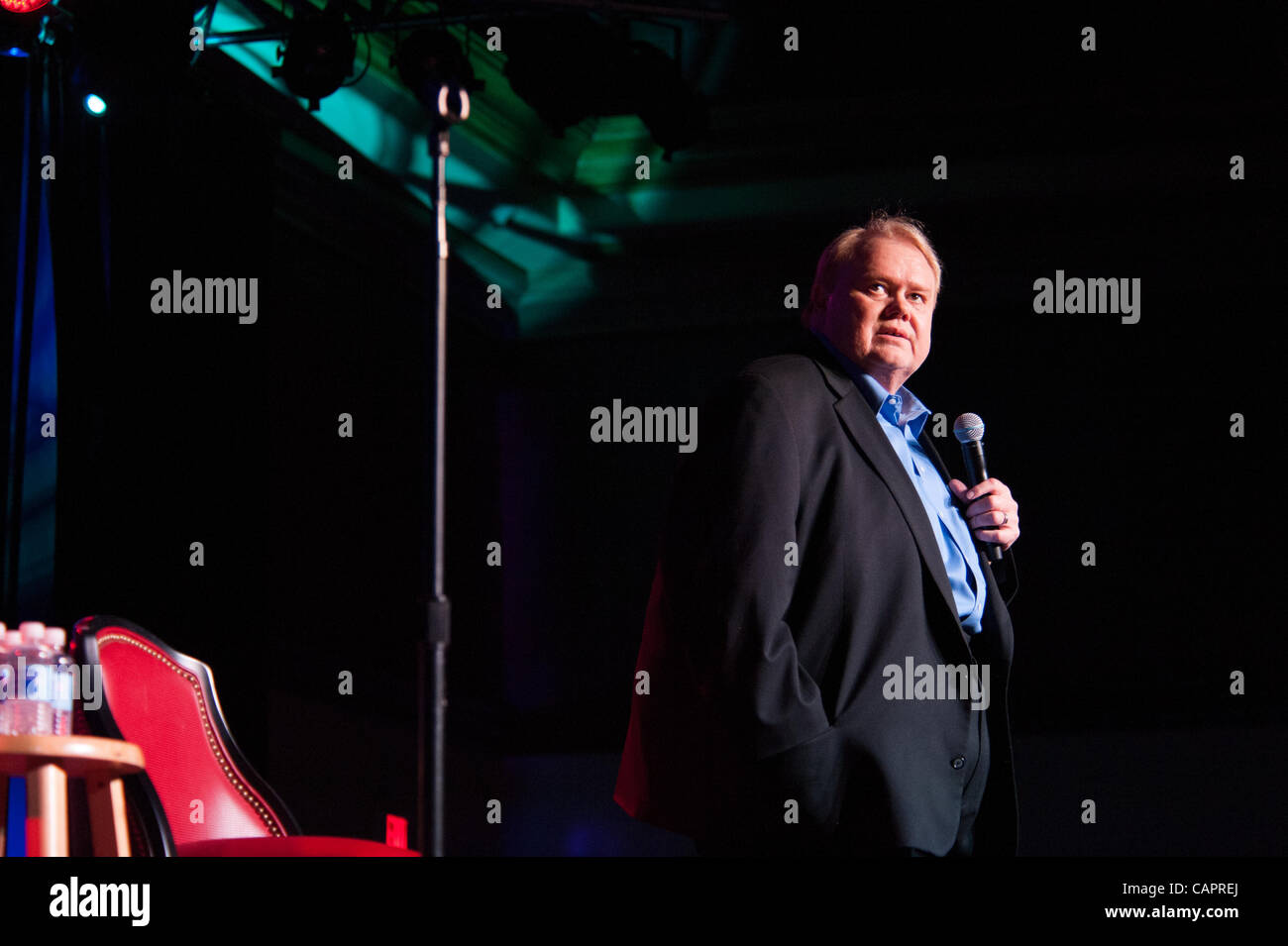 LINCOLN, CA - April 7: Louie Anderson performs at Thunder Valley Casino Resort in Lincoln, California on April 7, - Stock Image