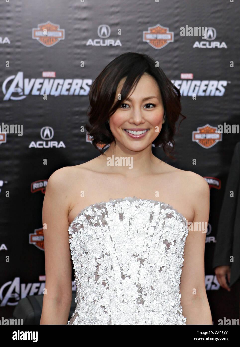 RYOKO YONEKURA attends The Avengers Movie Premiere - Stock Image