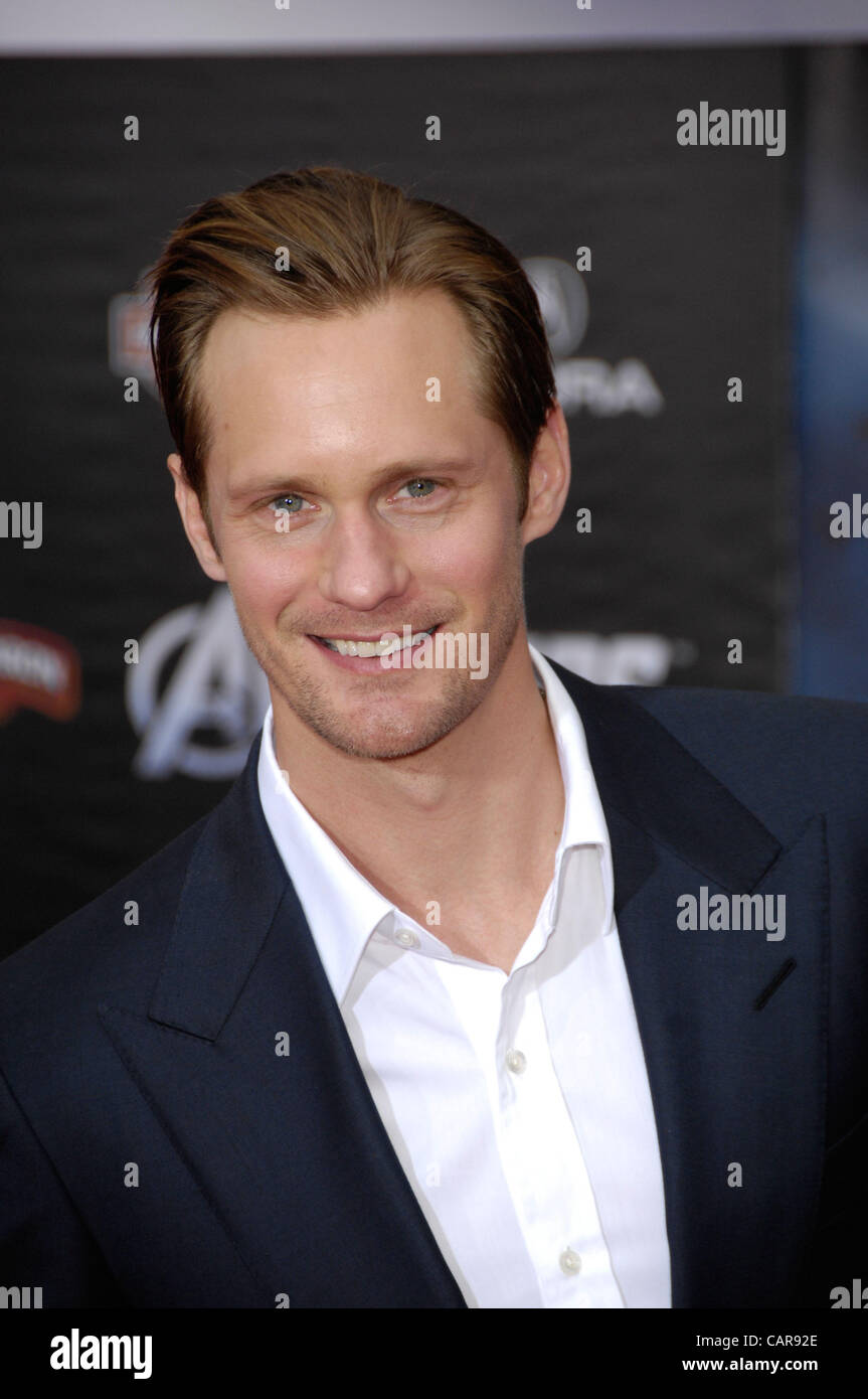 April 12, 2012 - Hollywood, California, U.S. - Alexander Skarsgard  during the premiere of the new movie from Disney Stock Photo