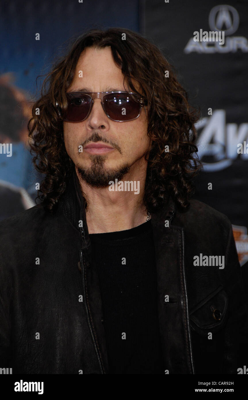 April 12, 2012 - Hollywood, California, U.S. - Chris Cornell during the premiere of the new movie from Disney MARVEL'S Stock Photo