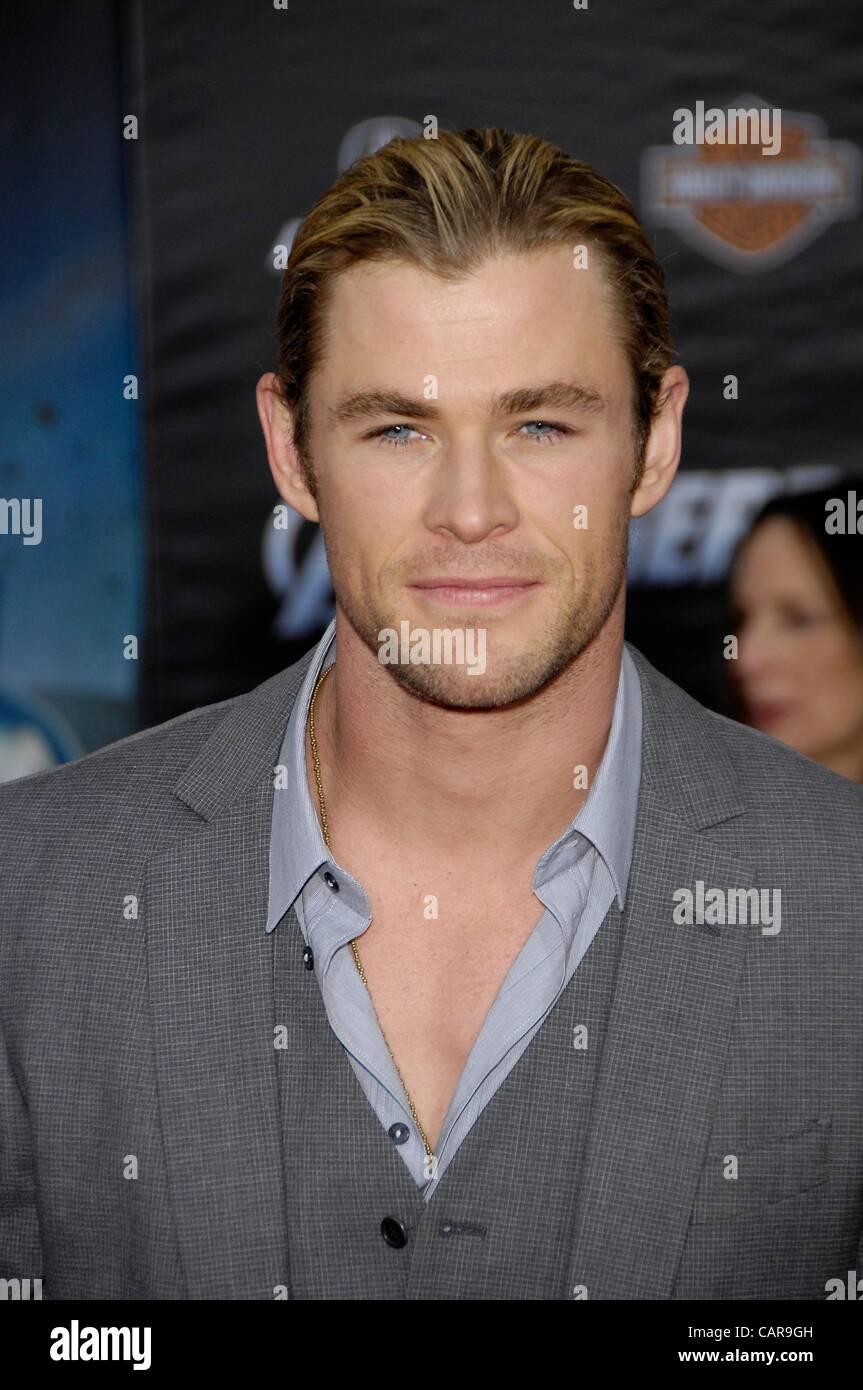 Chris Hemsworth at arrivals for THE AVENGERS Premiere, El Capitan Theatre, Los Angeles, CA April 11, 2012. Photo Stock Photo