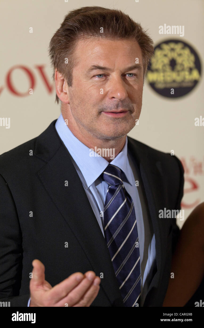 """ROME, ITALY. FRIDAY, APRIL 13th, 2012. World premiere of Woody Allen's film """"To Rome With Love"""" at the Auditorium, Stock Photo"""