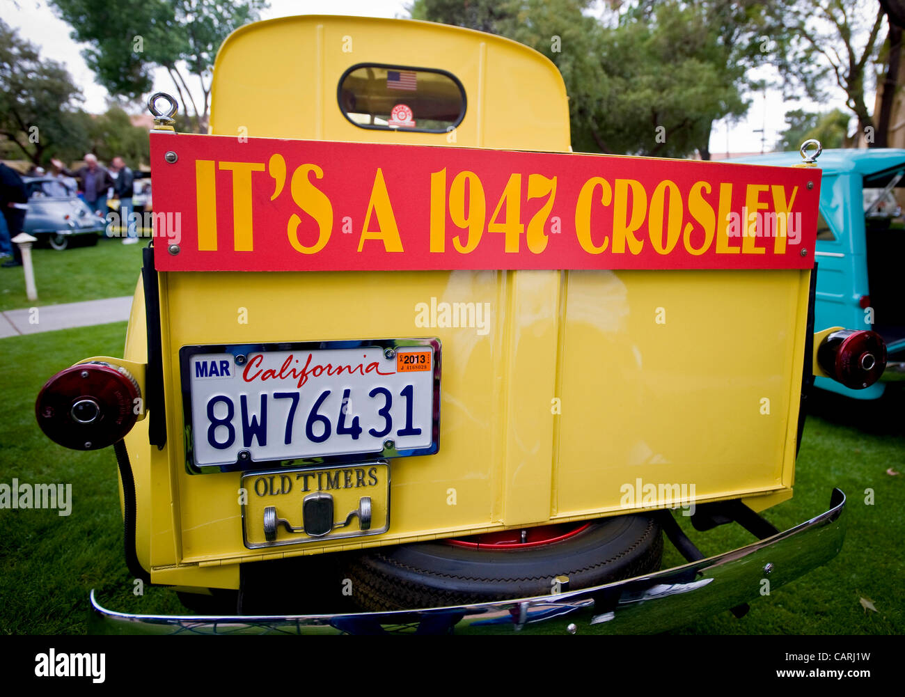 April 14, 2012 - Phoeniz, AZ, USA -  A 1947 American-built Crosley, one of approximately 60 micro and mini cars Stock Photo