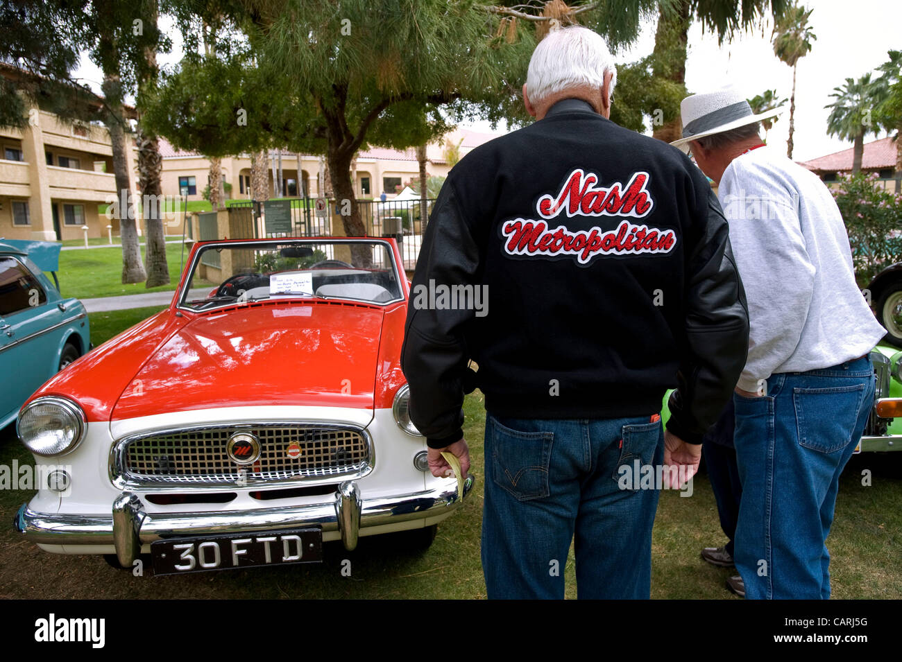 April 14, 2012 - Phoeniz, AZ, USA -  Mini car enthusiasts gather for a rally of approximately 60 micro and mini Stock Photo