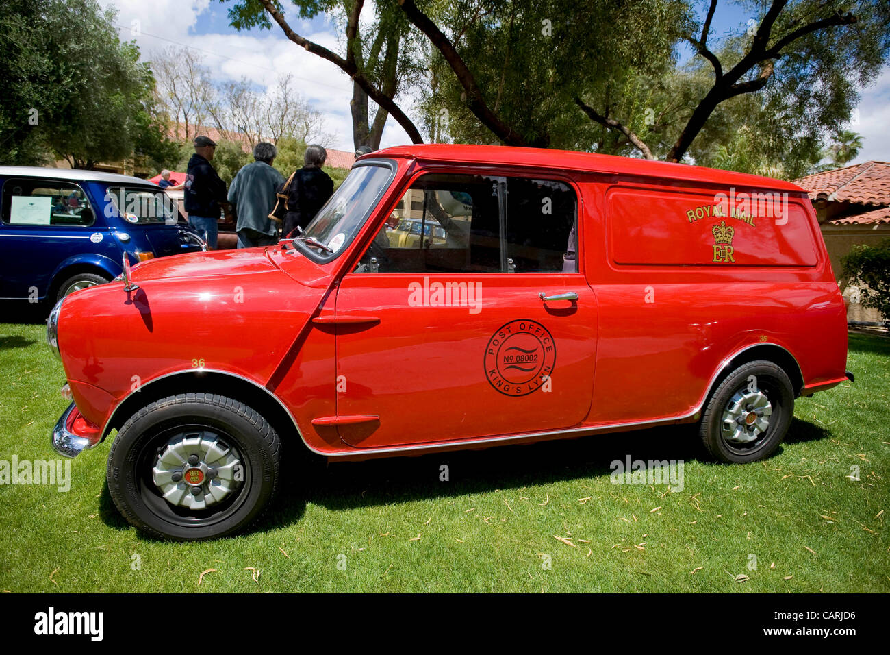 April 14, 2012 - Phoeniz, AZ, USA -  A 1965 Austin Minivan, one of approximately 60 micro and mini cars which rallied Stock Photo