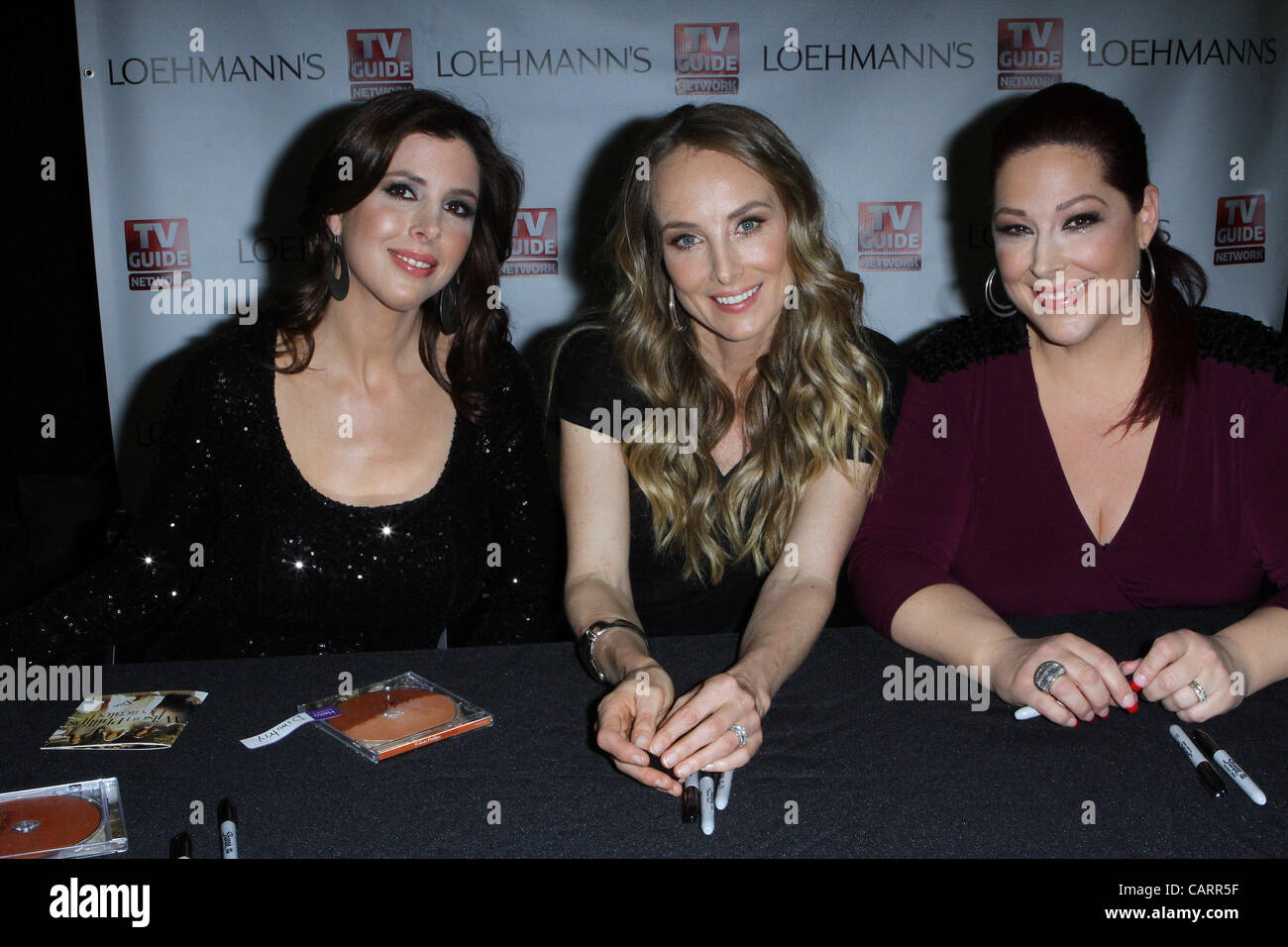April 15, 2012 - Los Angeles, California, U.S. - Wendy Wilson;Chynna Phillips;Carnie Wilson .TV Guide Network's - Stock Image