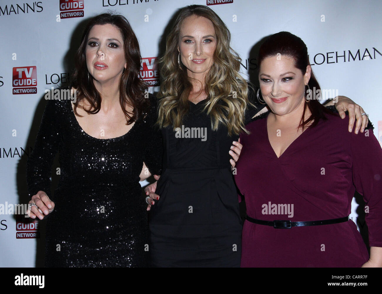 April 15, 2012 - Hollywood, California, U.S. - WENDY WILSON, CHYNNA PHILLIPS and CARNIE WILSON (L-R) at the launch - Stock Image