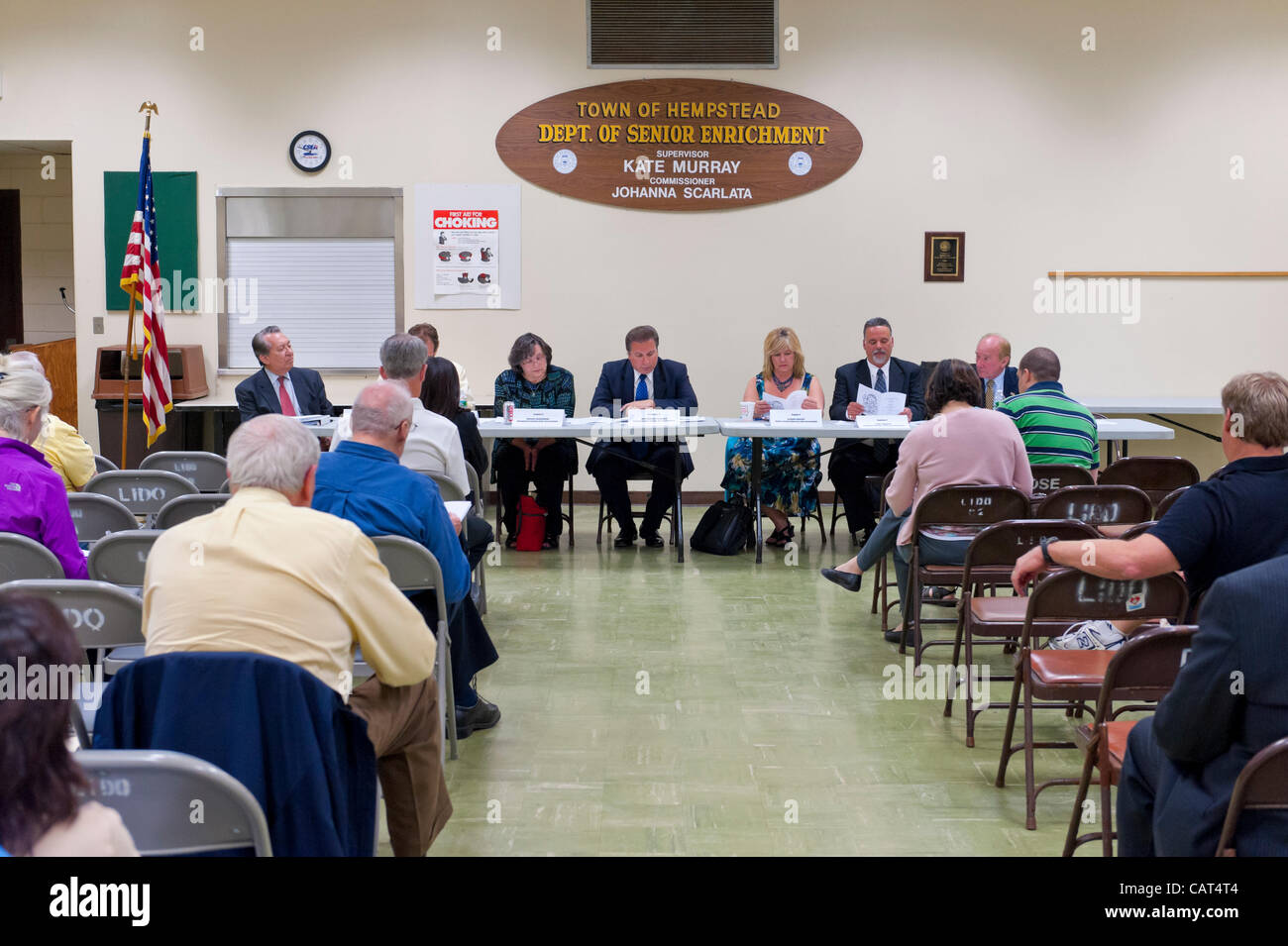 After Nassau County Coalition of Civic Associations installs Board Directors, on Tuesday, April 17, 2012, at Lido - Stock Image