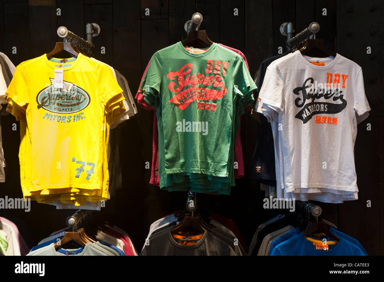 20/4/12, Superdry clothing store in Norwich, UK. Clothing chain SuperGroup stunned investors today by admitting - Stock Image