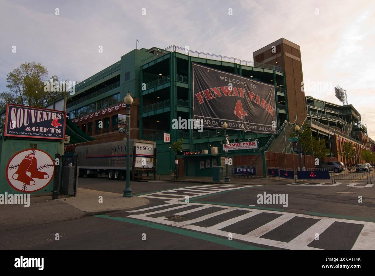 Boston, Massachusetts, USA  April 19, 2012  A SYSCO truck is