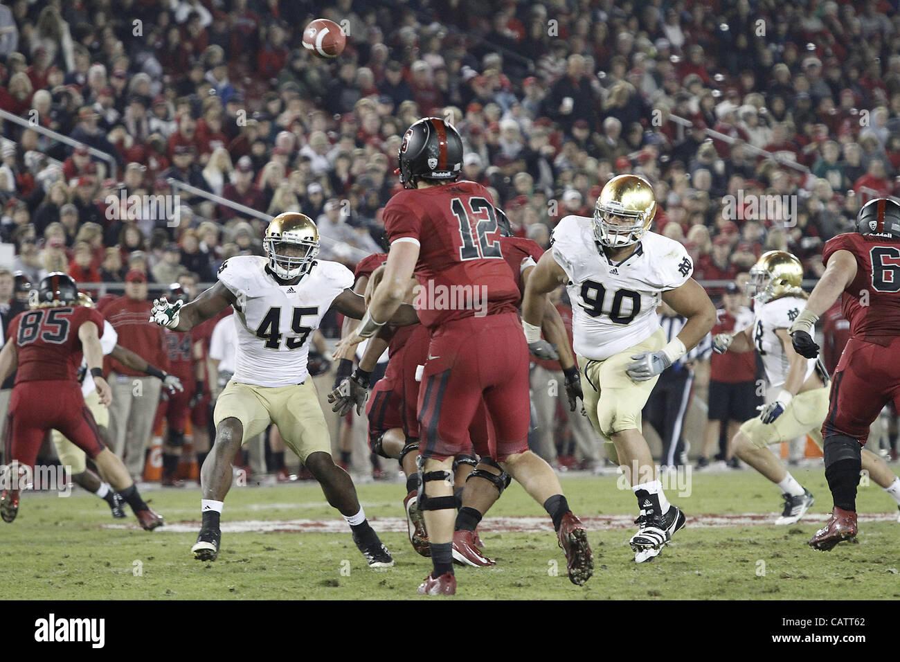 Nov. 26, 2011 - Palo Alto, California, USA - Stanford Cardinal quarterback Andrew Luck (12). The Notre Dame Fighting Stock Photo