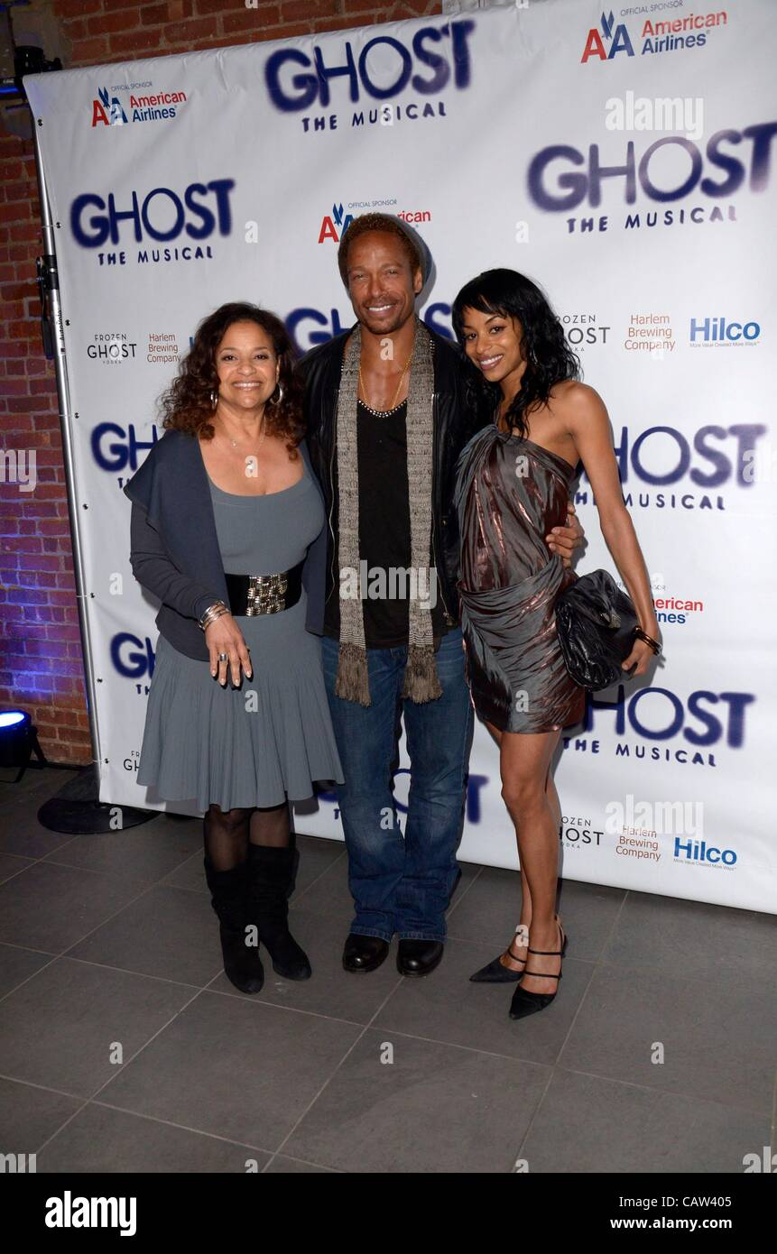 Debbie Allen, Gary Dourdan, Vivian Nixon at the after-party for GHOST The Musical Opening Night After Party, Tunnel, Stock Photo