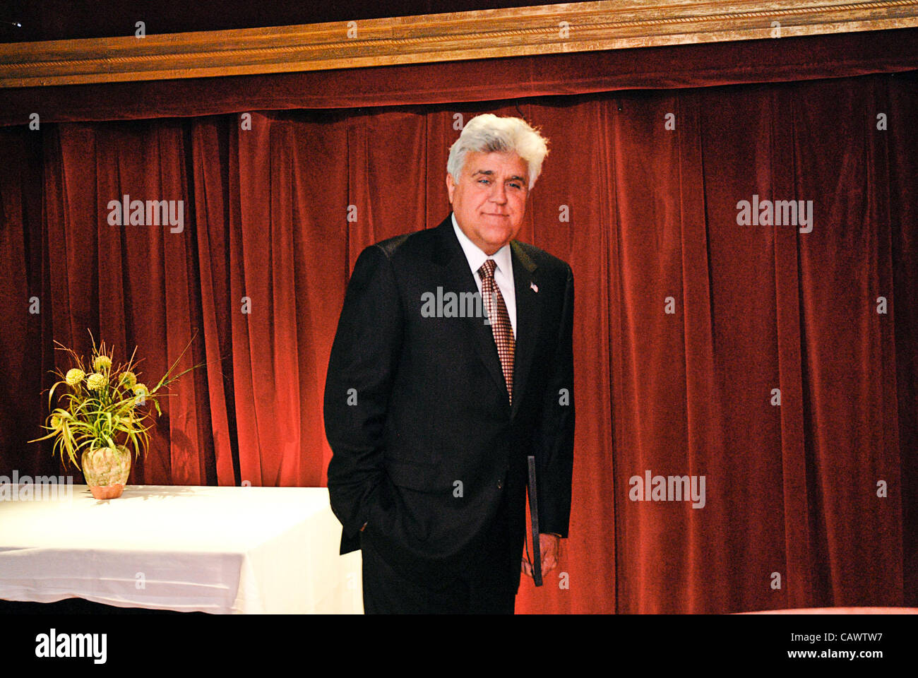 Jay Leno performed at the Cadillac Palace Theater in Chicago on April 28, 2012 to help raise funds for Omni Youth - Stock Image