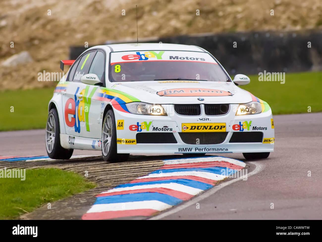 28 04 2012 Thruxton Robert Collard Driving The Ebay Motors Bmw 320i Stock Photo Alamy