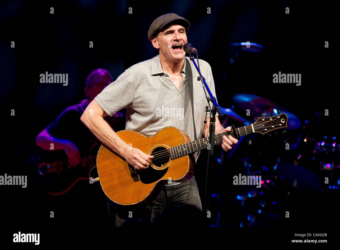James Taylor pictured in concert at the Bozar Auditorium