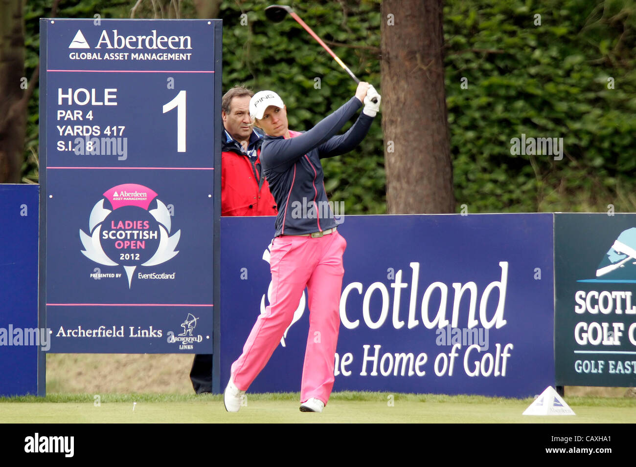 03.05.2012.  East Lothian, Scotland. Sophie Walker (ENG) In action during the Ladies Scottish Open from the Archerfield Stock Photo