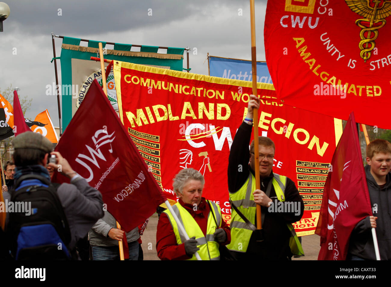 Communications Workers union - CWU Midlands region Notts NTCs May Day celebration on Saturday 5 May Met at Nottingham's - Stock Image