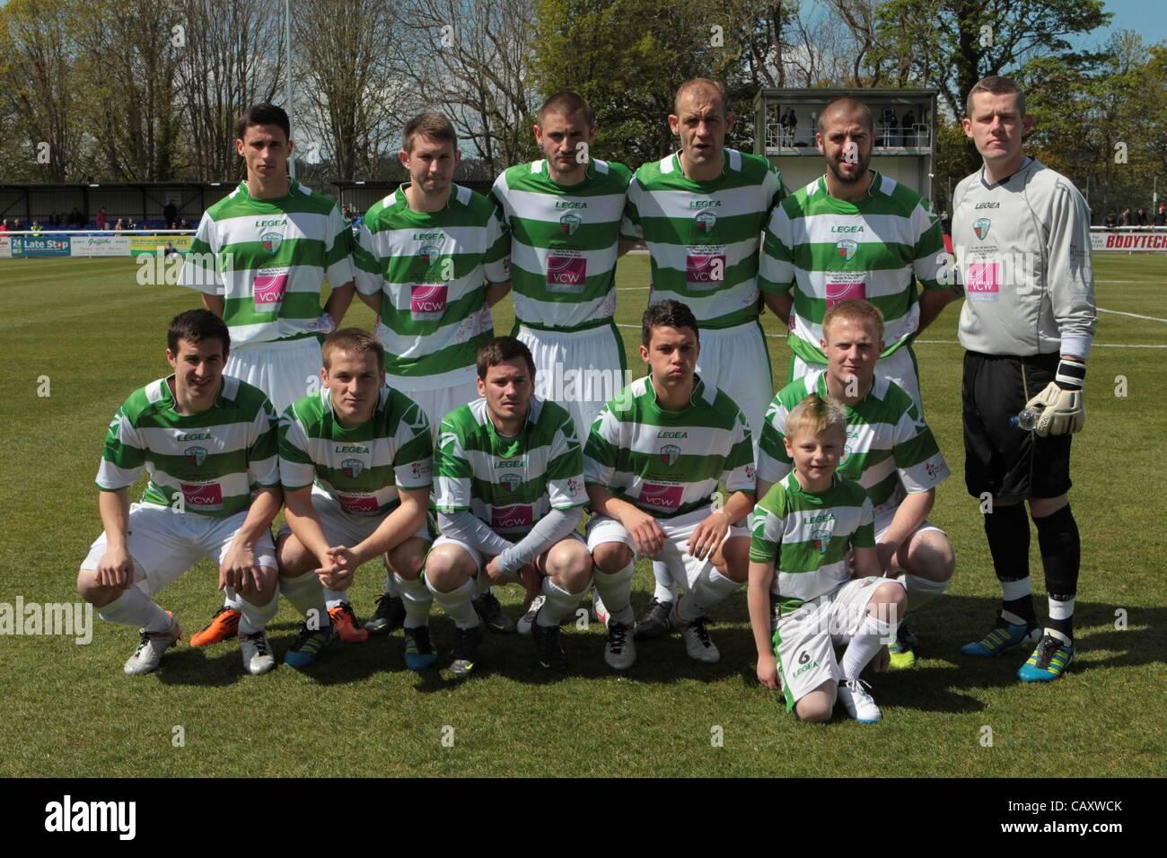 a7100f3a 05.05.2012, Bangor, Wales. Cefn Druids FC v The New Saints FC. The ...