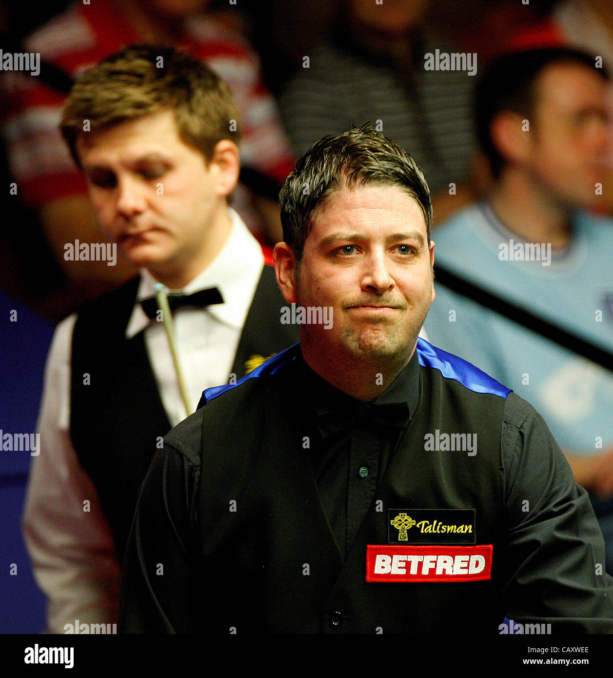 May 2, 2012 - Sheffield, England - 02.05.2012 -  Ryan Day lost 13-5 over Matthew Stevens, World Snooker Championship - Stock Image