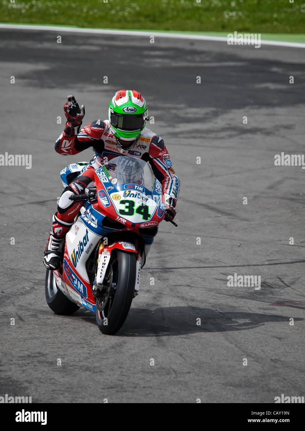 Sbk Series Monza  34 Davide Giugliano ITA Ducati 1098R Althea Racing Stock Photo