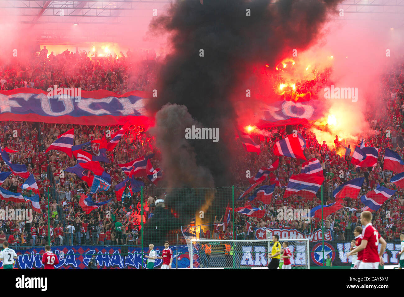 06.05.2012. Krakow, Poland. T-Mobile Ekstraklasa League ...