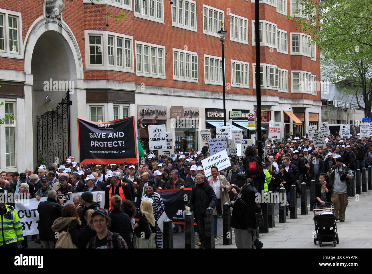 Thursday 10th May 2012 Police officers facing cuts in numbers and significant changes in pay and pensions rights - Stock Image