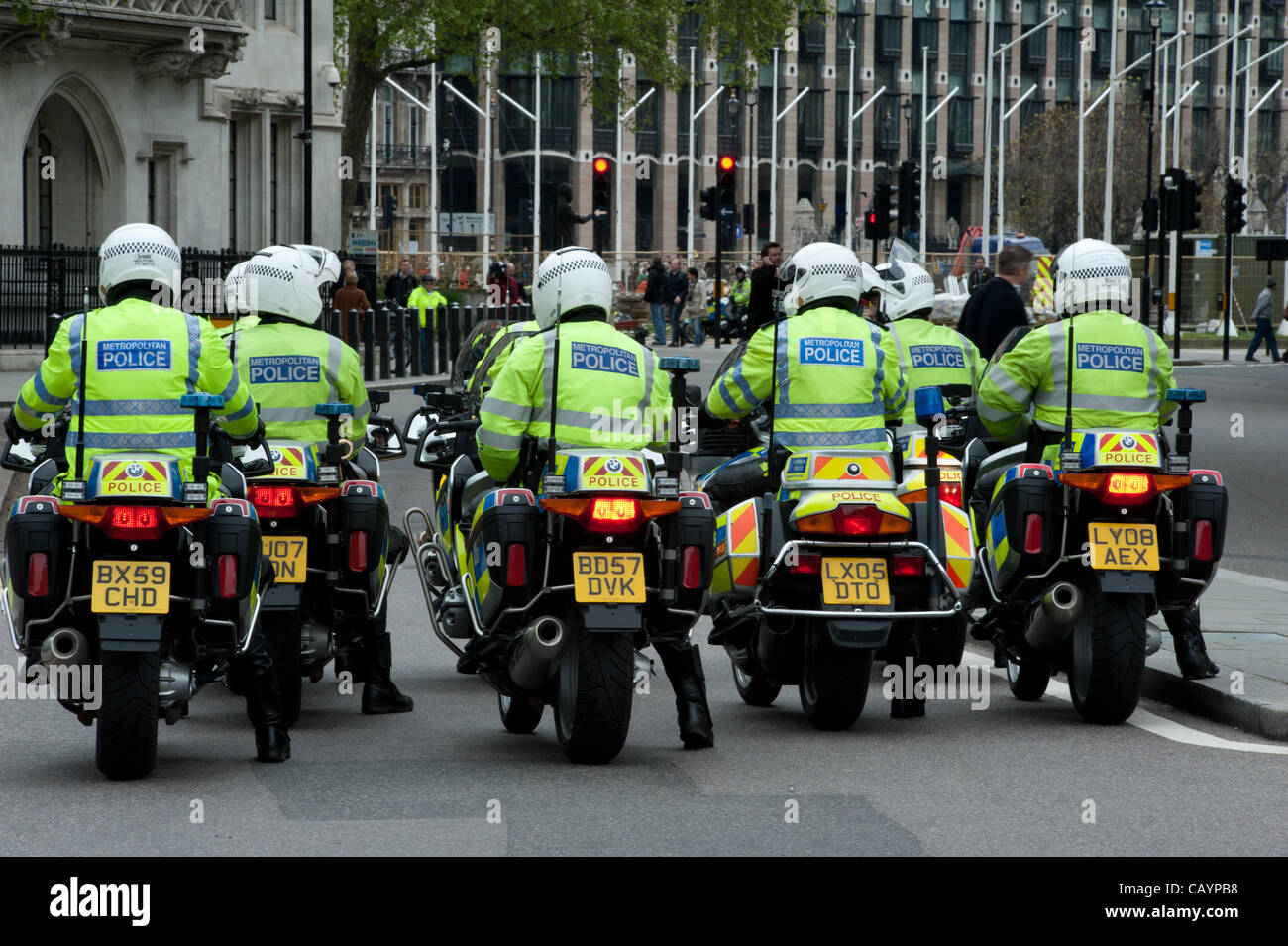 London - 10th May 2012 - Members of the police federation held a march in London to demonstrate against funding - Stock Image
