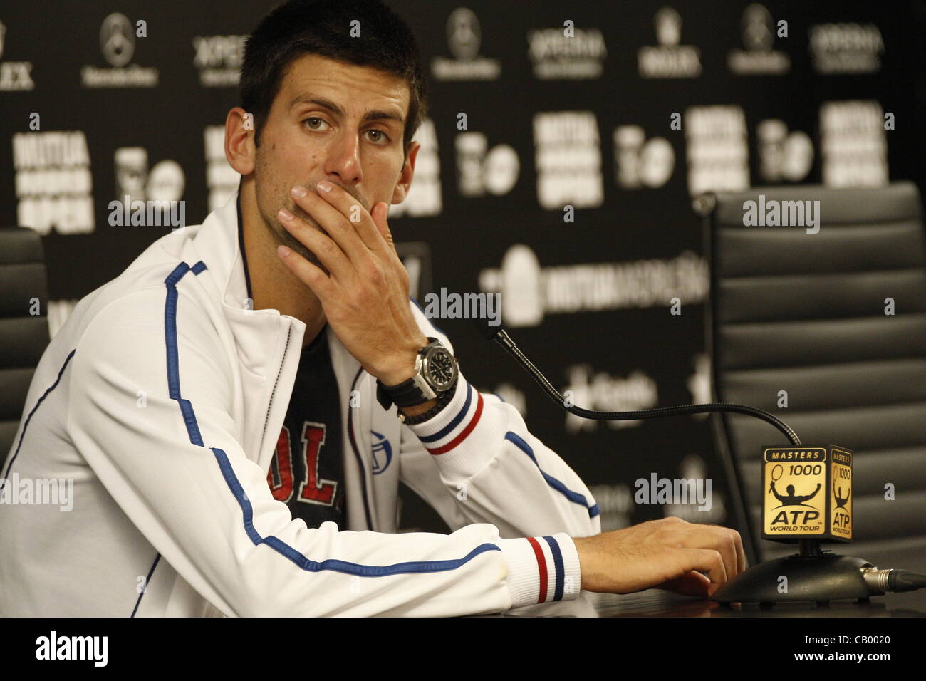 Novak Djokovic threaten to withdraw from next year's Madrid Open - Stock Image