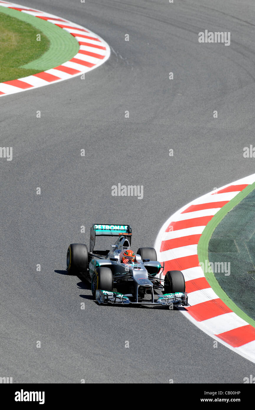 Friday 11th May 2012. Motorsport, Formula 1, Grand Prix of Spain on the Circuit de Catalunya in Montmelo, Spain - Stock Image