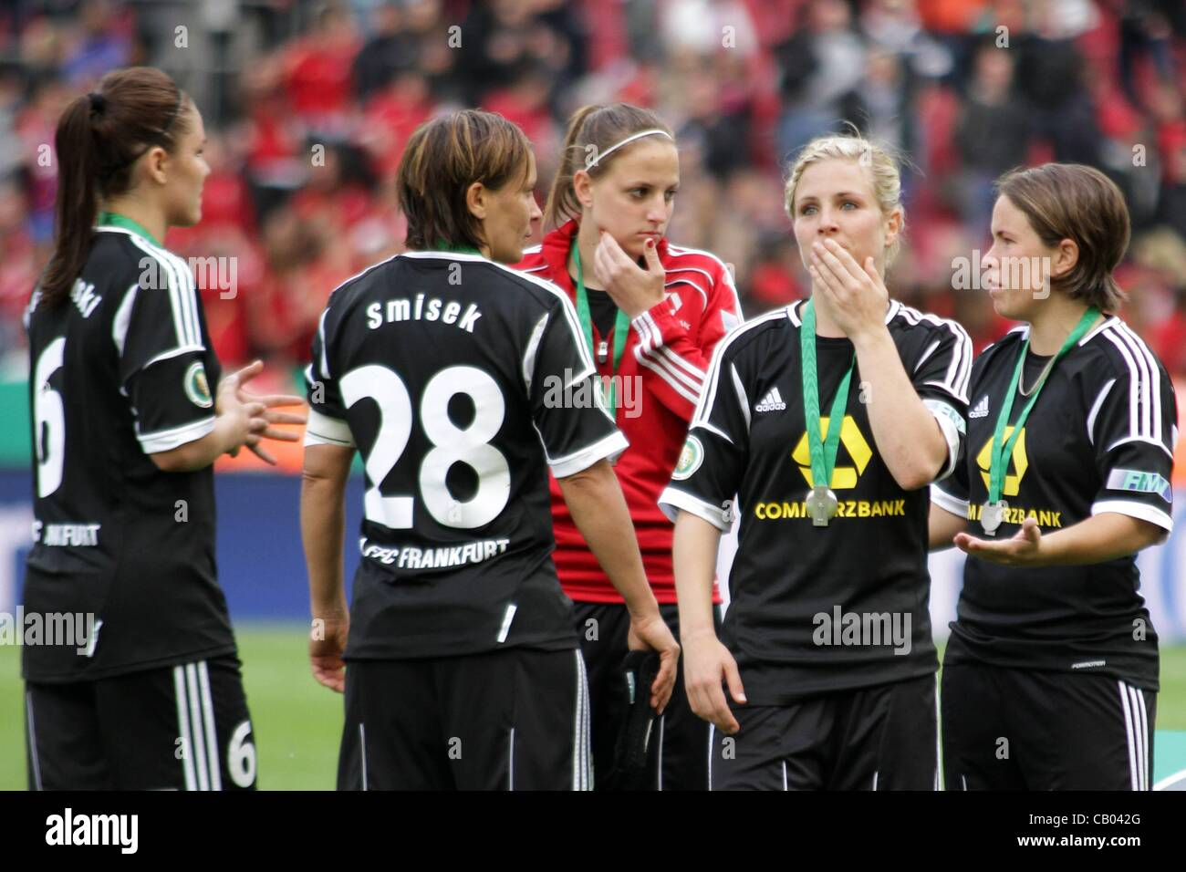 12.05.2012. Cologne, Germany. German womens Cup Final FFC Frankfurt vs FC Bayern Munich  Big disappointment for - Stock Image