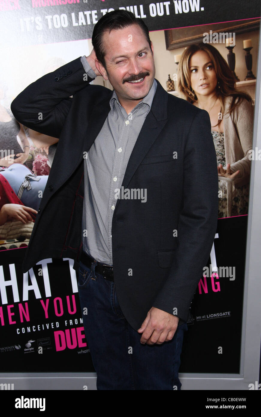 TOM LENNON WHAT TO EXPECT WHEN YOU'RE EXPECTING. LOS ANGELES PREMIERE HOLLYWOOD LOS ANGELES CALIFORNIA USA 14 - Stock Image