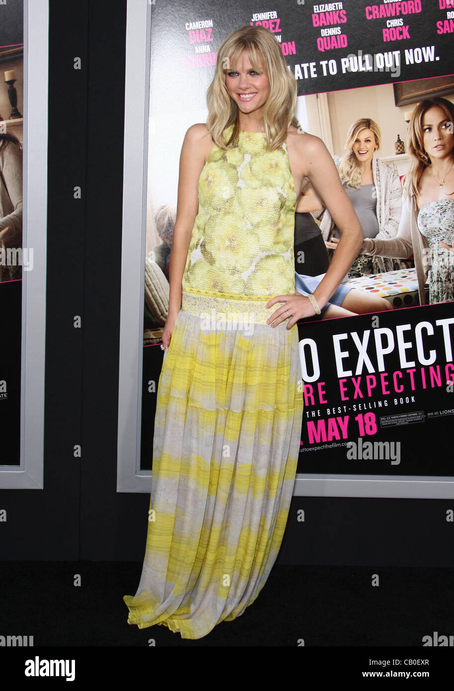 BROOKLYN DECKER WHAT TO EXPECT WHEN YOU'RE EXPECTING. LOS ANGELES PREMIERE HOLLYWOOD LOS ANGELES CALIFORNIA - Stock Image