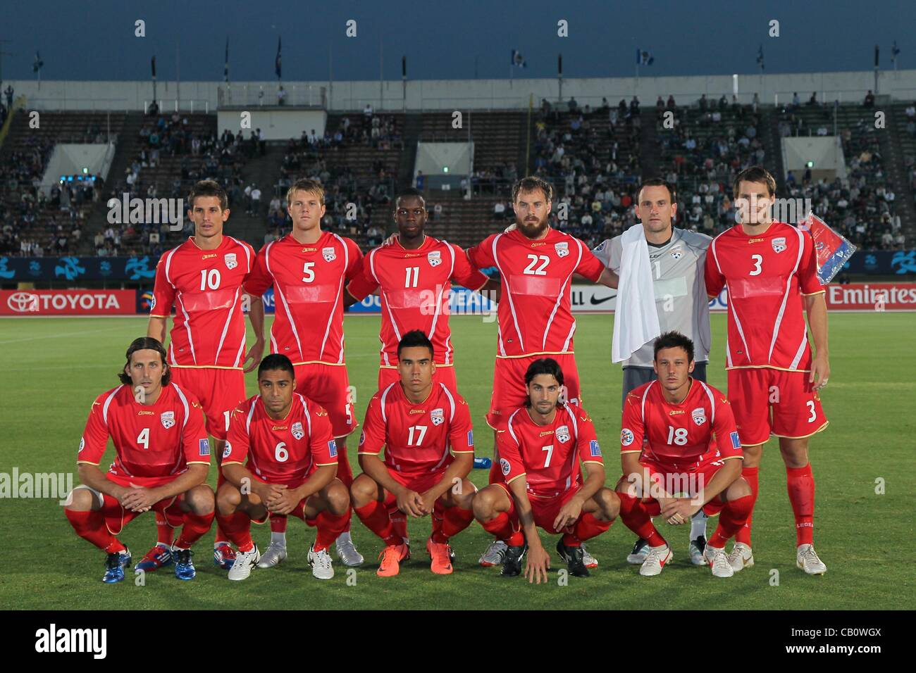 Adelaide United Fc Team Group May 16 2012 Football Afc Stock Photo Alamy